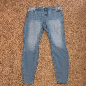 Old navy super skinny light blue 16 plus long jean
